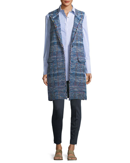St. John Collection Watercolor Placed Knit Vest