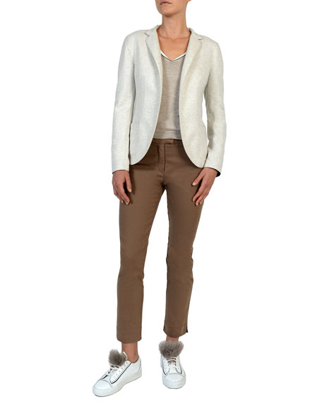 Relaxed Stretch-Wool Blazer