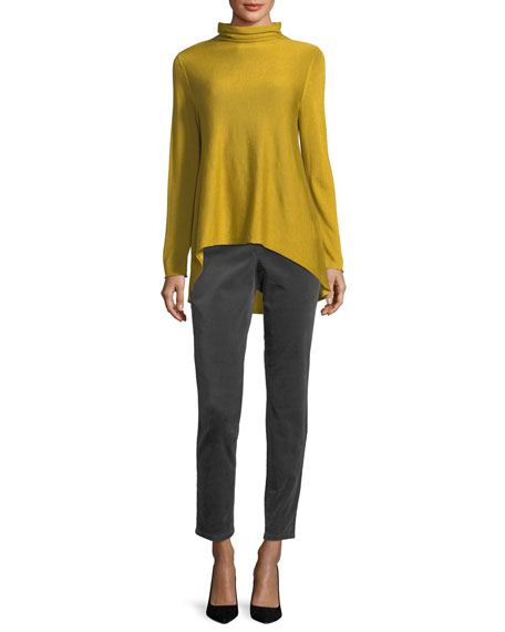 Sleek Scrunch-Neck Knit Top