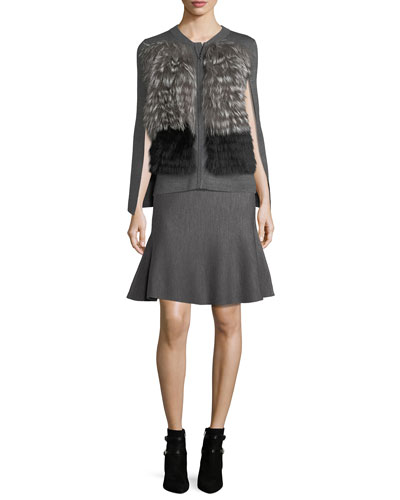 Celise Stretch-Wool Fit-&-Flare Skirt and Matching Items