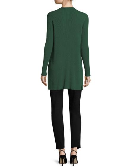 Long Silk Jersey Tunic