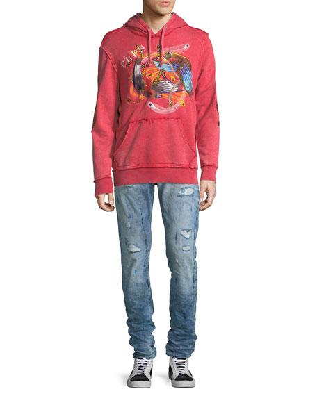 Demon Distressed Slim-Straight Jeans