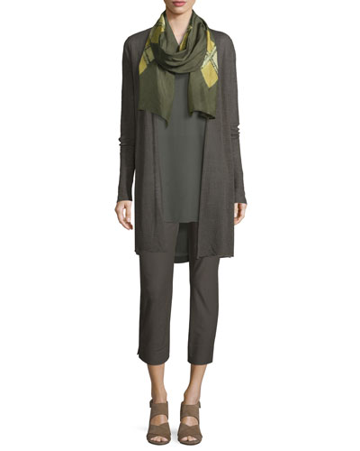 Scoop-Neck Silk Georgette Tunic  and Matching Items