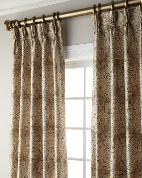 "Ikat Blackout Curtain, 120""L"