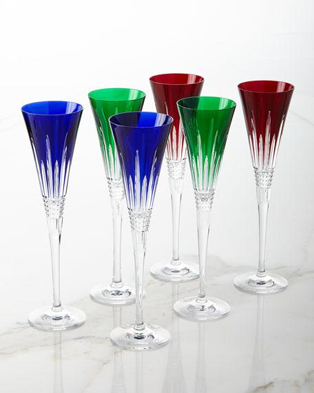Set of 2 Lismore Diamond Toasting Flutes