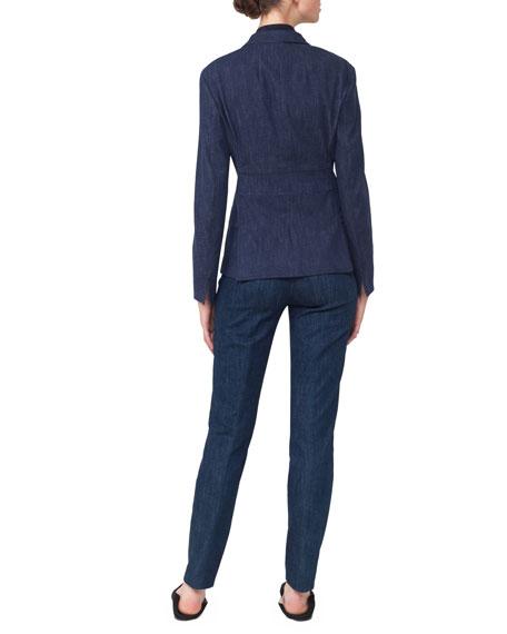 Odeon Snap-Front Long-Sleeve Denim Jacket