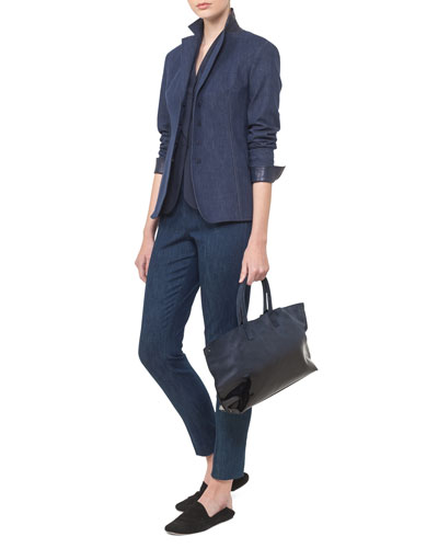 Odeon Snap-Front Long-Sleeve Denim Jacket and Matching Items