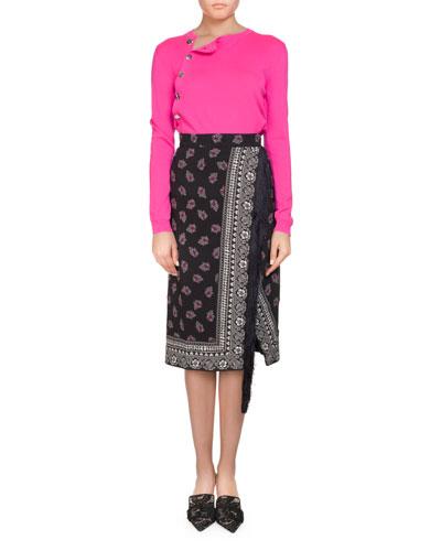 Minamoto Button-Side Crewneck Sweater and Matching Items