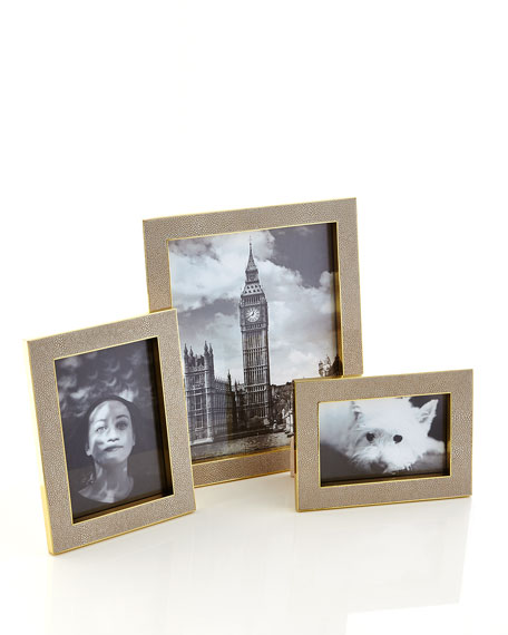 "Classic Faux-Shagreen 5"" x 7"" Frame, Wheat"