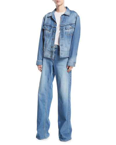 Wide-Leg High-Rise Denim Pants and Matching Items