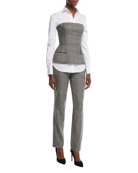 Simone Glen Plaid Suiting Bustier Top