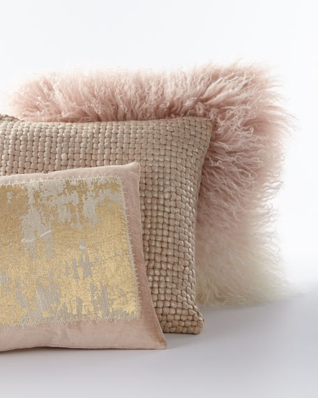 cushion pillow shepcushiv sheepskin out ivory cut front sumptuous h suede