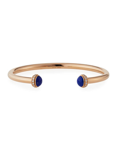 Possession Medium Lapis Cabochon Bracelet in 18K Red Gold