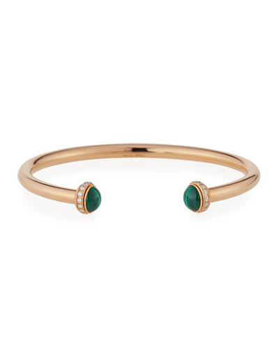Possession Medium Malachite Cabochon Bracelet in 18K Red Gold