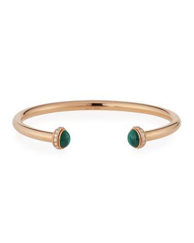 Possession Medium Malachite Cabochon Bracelet in 18K Red Gold