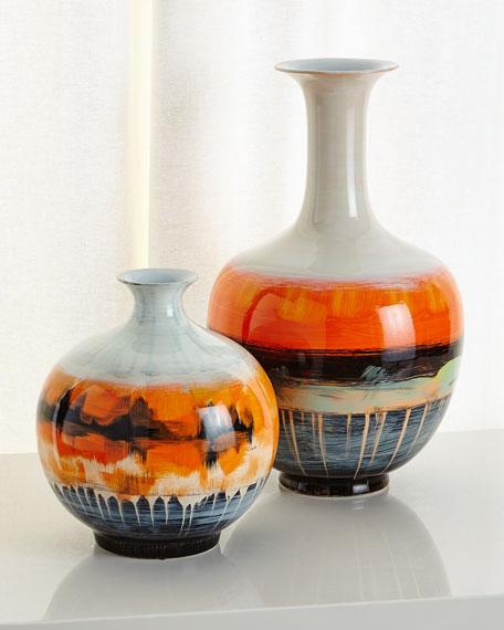 Suma Large Vase, Orange