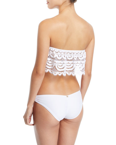 Ruched Full Solid Swim Bikini Bottoms