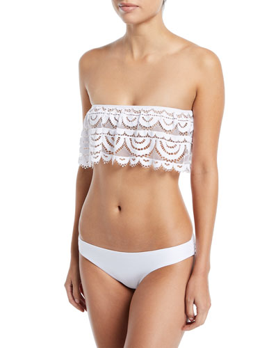 Noah Eyelet Lace Flutter Bandeau Swim Top and Matching Items