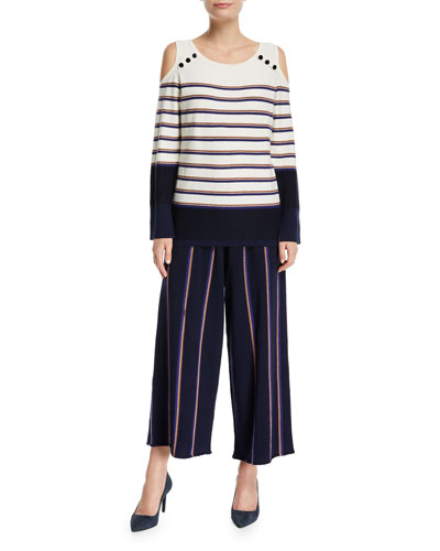 Lined Up Vertical Striped Pants  and Matching Items