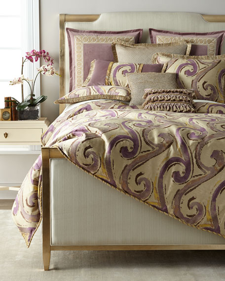 Wisteria Scroll Queen Duvet