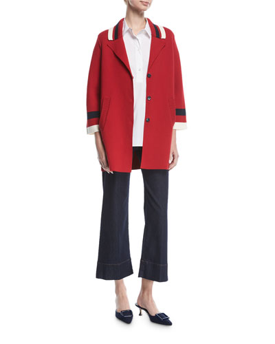 Varsity Stripe Knit Caban Coat and Matching Items