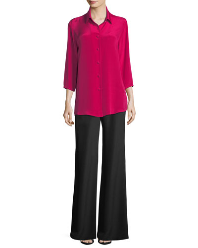 Silk Crepe Wide-Leg Pants  and Matching Items