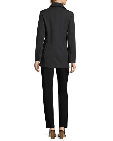 Straight-Leg Knit Pull-On Pants, Plus Size