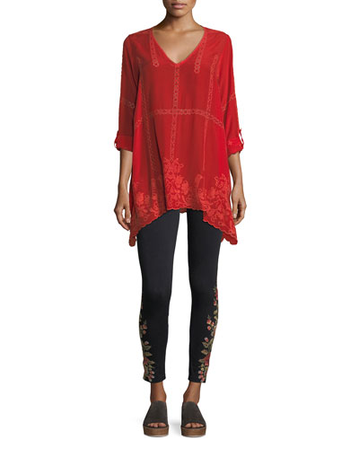 Cage Flare Long-Sleeve Tunic  and Matching Items
