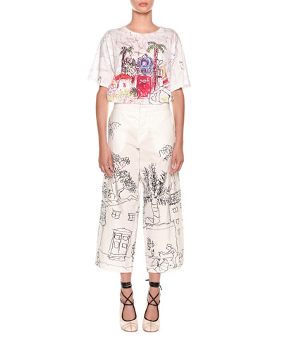 Artist Collaboration Short-Sleeve Jersey Cotton T-Shirt and Matching Items