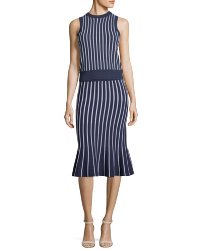 Vertical Striped Sleeveless Top and Matching Items