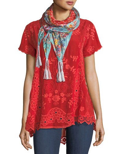 Lacey Silk Georgette Scarf and Matching Items