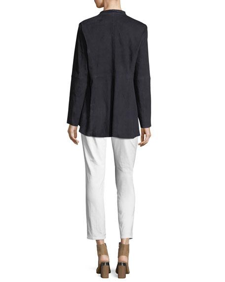 Soft Suede High-Collar Jacket