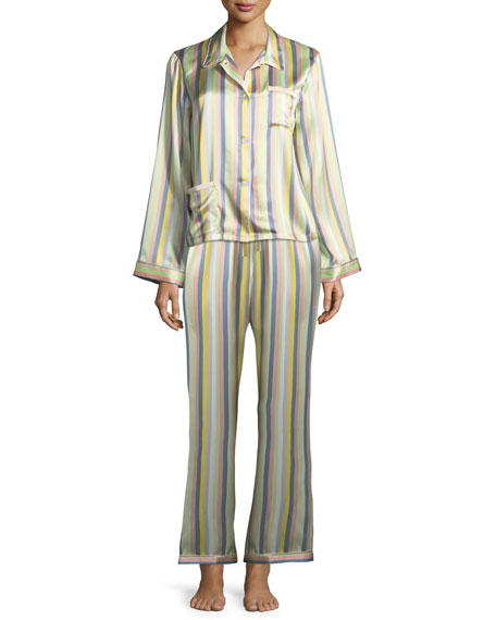 Ruthie Sorbet-Striped Pajama Top