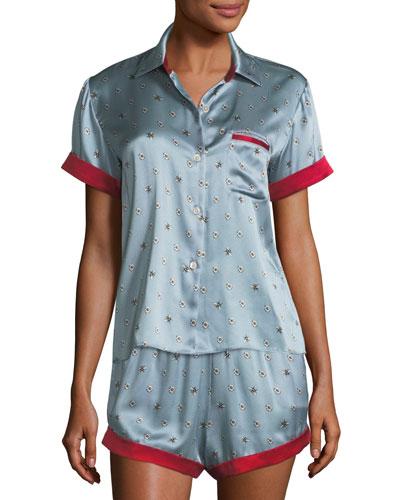 Chloe Bee Daisies Pajama Shorts and Matching Items