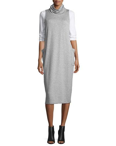Cowl-Neck Sleeveless Knit Dress and Matching Items