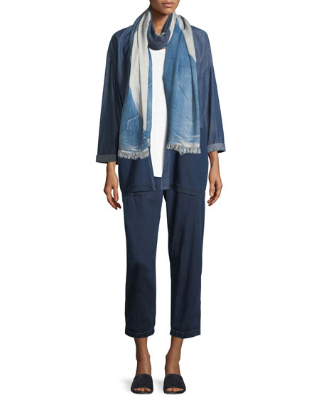Tencel® Organic Cotton Denim Kimono Jacket, Petite