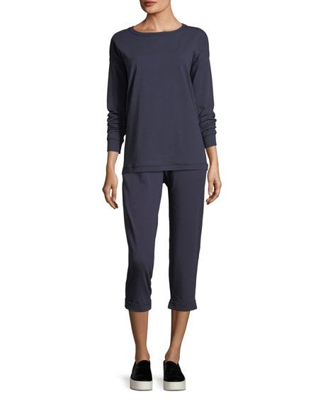 Stretch Jersey Sweatshirt Top, Petite