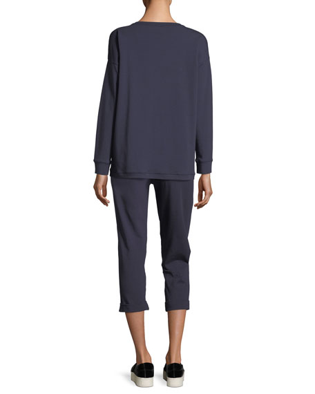 Stretch Jersey Sweatshirt Top, Plus Size
