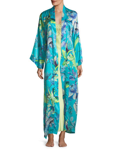 Capri Floral-Print Long Robe and Matching Items