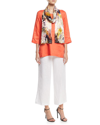 Tissue Linen Wide-Leg Pants, Plus Size and Matching Items