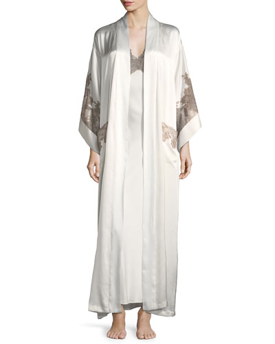 Lillian Long Silk Nightgown and Matching Items