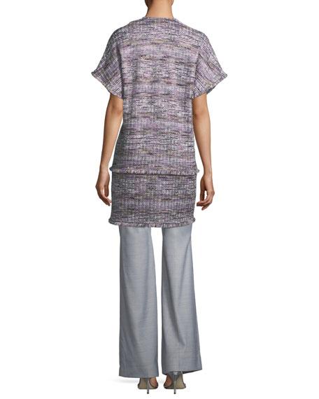 Short-Sleeve Tweed Topper