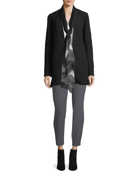 Geometry Textured Jacket, Plus Size