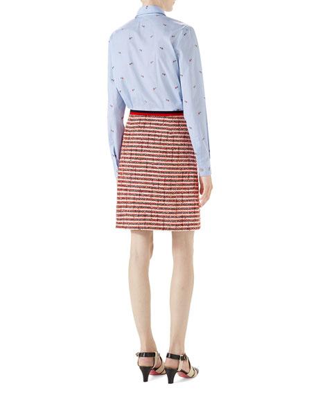 Pierced-Heart Fil Coupe Cotton Shirt