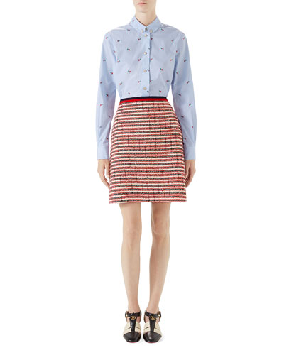 Pierced-Heart Fil Coupé Cotton Shirt and Matching Items