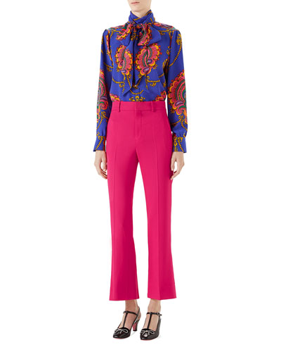 Viscose Ankle-Length Boot-cut Pants and Matching Items