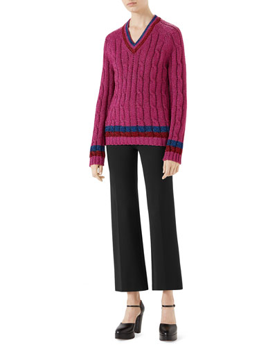 Lurex® Cable-Knit Sweater and Matching Items