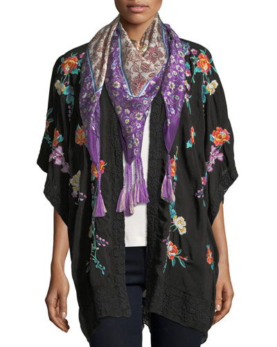 Aratta Floral-Print Silk Georgette Scarf and Matching Items