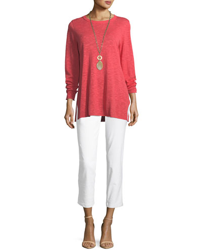 Washable Stretch-Crepe Slim Ankle Pants and Matching Items