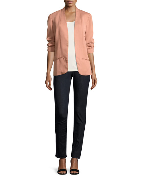 Silk Jersey Long Slim Camisole, Plus Size